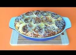 Enlace a Pastel de verduras con col y champiñones
