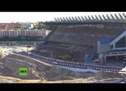 Enlace a Abren una carretera que atraviesa lo que antes era el césped del Estadio Vicente Calderón