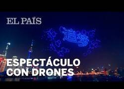 Enlace a La increíble exhibición de drones para celebrar el Año Nuevo en Shanghai