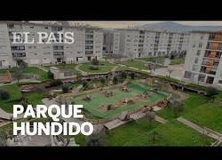 Enlace a Un parque infantil se hunde sobre el párking de una urbanización en Santander