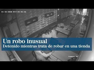 Un ladrón se toma su tiempo para robar en una tienda de Castellón