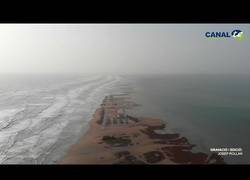 Enlace a El antes y el después del Delta del Ebro tras el temporal 'Gloria'