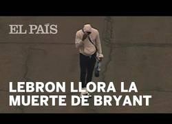 Enlace a La reacción de LeBron James al enterarse del accidente de su amigo Kobe Bryant