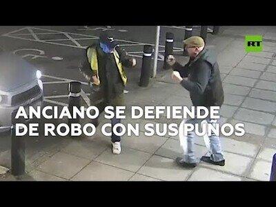 Un anciano se defiende a puños de su atracador