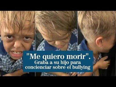 Una madre comparte un vídeo en el que su hijo pide morir para concienciar sobre los efectos del bullying