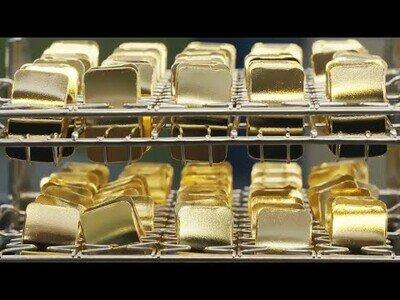 Proceso de extracción de oro y lingotes de oro y plata