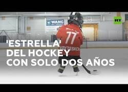 Enlace a Una auténtica promesa del hockey sobre hielo con 2 años