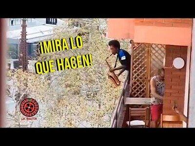 Sucesos ocurridos en balcones de todo el mundo durante el coronavirus