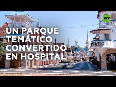 Habilitan un parque de atracciones como hospital en Argentina