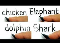 Enlace a Dibujando animales a partir de sus nombres escritos