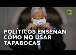 Enlace a Políticos que enseñan cómo NO usar una mascarilla
