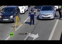 Enlace a Policías cortan una carretera para que una familia de patos pueda cruzar