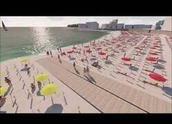 Enlace a El plan de la playa de Silgar en Sanxenxo para respetar el distanciamiento este verano