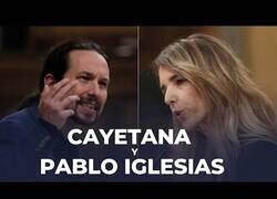 Enlace a El duro enfrentamiento entre Cayetana Álvarez de Toledo y Pablo Iglesias en el Congreso