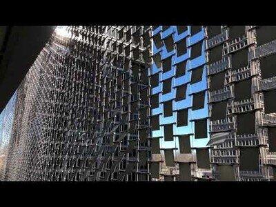 El edificio con una fachada que interactua con el aire en Clayton, EEUU