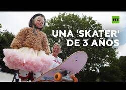 Enlace a Autumn, la niña 'skater' de 3 años
