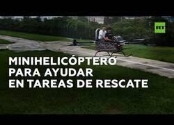 Enlace a Fabrican un minihelicóptero para tareas de rescate