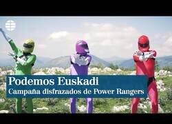Enlace a Podemos Euskadi recurre a los Power Rangers para su campaña electoral