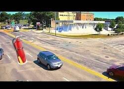 Enlace a Una gasolinera activa por error el sistema automático anti-incendios