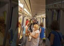 Enlace a Incidente en el metro de Valencia en el que un joven africano se resiste a los vigilantes