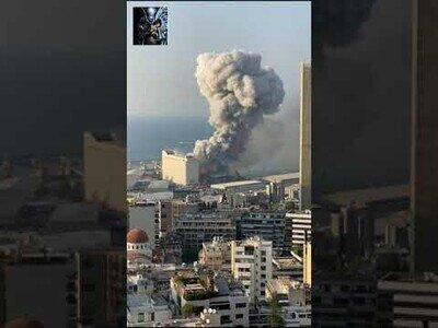 La impactante doble explosión en el puerto de Beirut