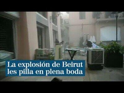 Cuando la explosión de Beirut se produce durante la grabación de tu vídeo de boda