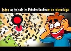 Enlace a ¿Qué pasaría si llamas a 100.000 taxis en un mismo lugar?
