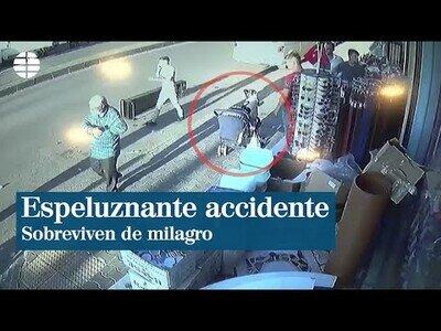 Dos menores sobreviven milagrosamente en un accidente
