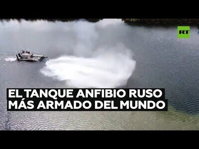 Rusia muestra el tanque amfibio más armado del mundo