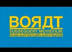 Enlace a El trailer oficial de la nueva película de Borat