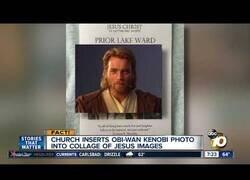 Enlace a Iglesia confunde una foto de Obi-Wan Kenobi con una de jesucristo