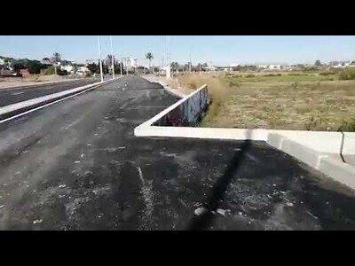 La carretera 'chapuza' en Cartagena, España