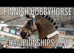 Enlace a Así es una competición de caballos sin caballos
