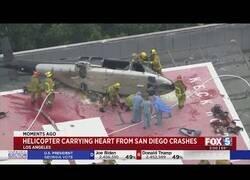 Enlace a Un corazón que era transportado en helicóptero para un transplante sufre un accidente doble