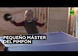 Enlace a Este niño de 3 años es un prodigio del tenis de mesa