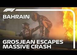 Enlace a El increíble accidente de Romain Grosjean en el que tuvo que escapar del fuego