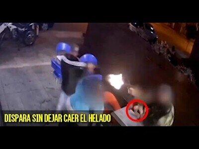 Policía vestido de paisano evita el atraco de una heladería en la que se encontraba con su hijo
