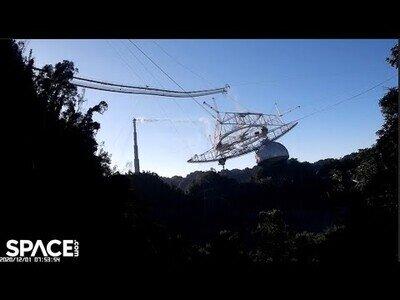 Así colapsó el observatorio de Arecibo, activo en Puerto Rico desde 1963
