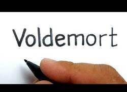 Enlace a Dibujando a Voldemort a raíz de su nombre