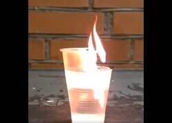 Enlace a ¿Qué pasa si prendes fuego a un vaso de plástico con agua en su interior?
