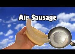 Enlace a Intentando cocinar una salchicha de aire