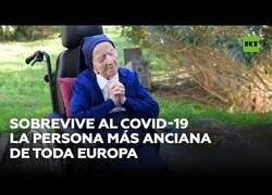Enlace a La persona más ancina de toda Europa vence al coronavirus