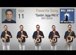 Enlace a Interpretando sus canciones favoritas de todas las edades con su saxo