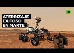 Enlace a Momento en el que el róver Perseverance de la NASA aterriza en Marte