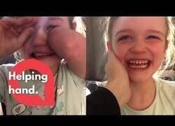 Enlace a La reacción de esta niña de 6 años al decirle que ya tienen el dinero para su prótesis