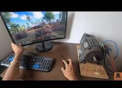 Enlace a Jugando a un juego de disparos con sensor de movimiento realista