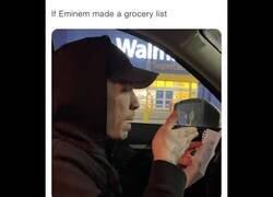 Enlace a Cuando Eminem hace la lista de la compra