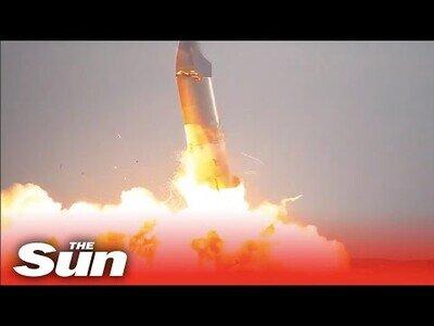 El cohete de Elon Musk explota durante una de sus pruebas