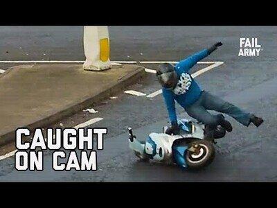 Cuando crees que nadie te ha visto, pero una cámara de seguridad captó tu fail
