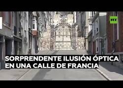 Enlace a Ilusión óptica en forma de arte urbano en Francia